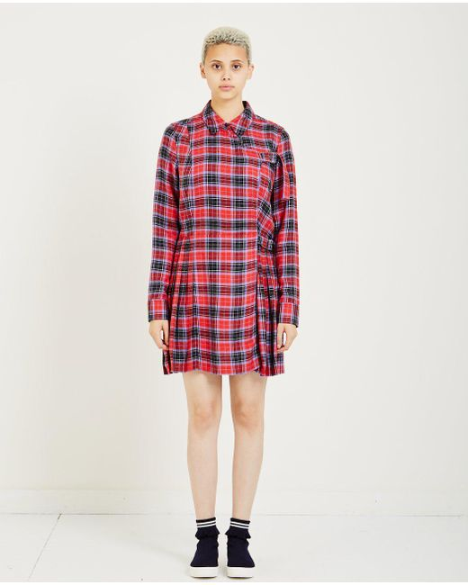 Opening Ceremony - Red Flannel Kilt Dress - Lyst