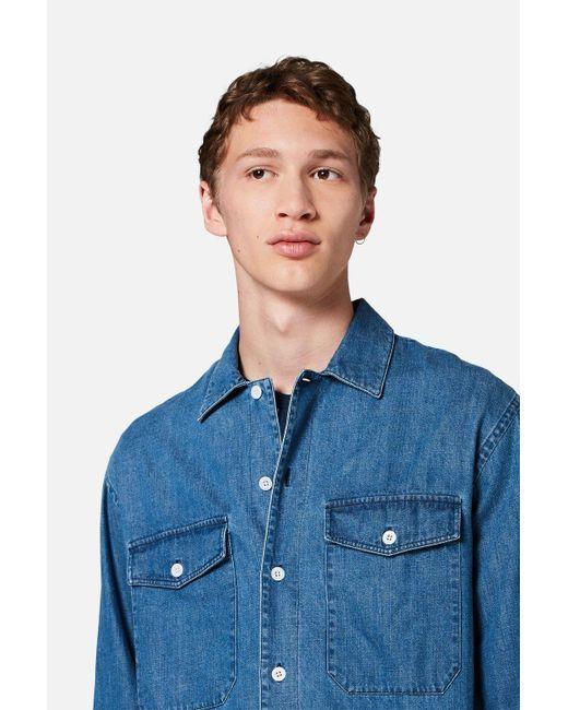 e140739c51c Lyst - AMI Denim Overshirt in Blue for Men