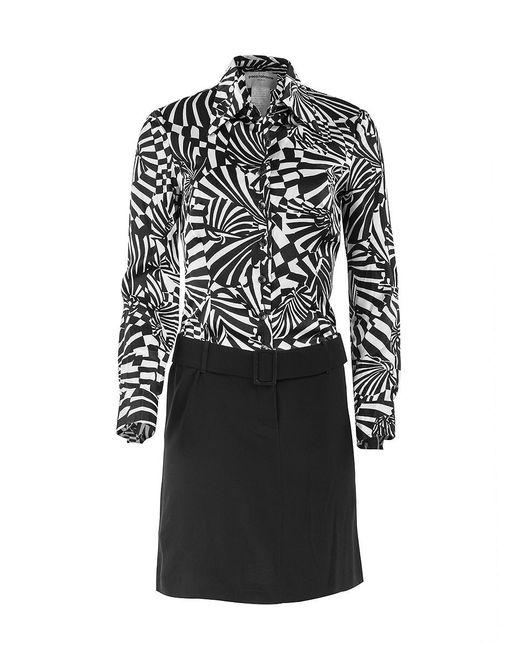Paco Rabanne | Black Belted Print Dress | Lyst