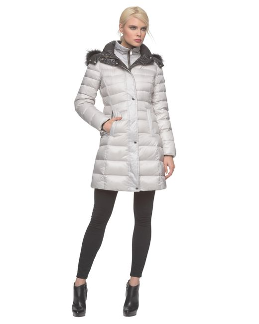 Andrew Marc | Metallic Gayle Down Puffer Coat | Lyst