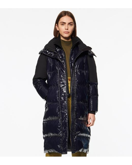 Andrew Marc Blue High Shine Down Puffer Jacket