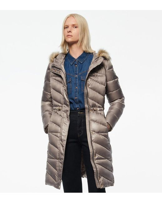 Andrew Marc Multicolor Ventura Asymmetrical Quilted Synthetic Down Coat