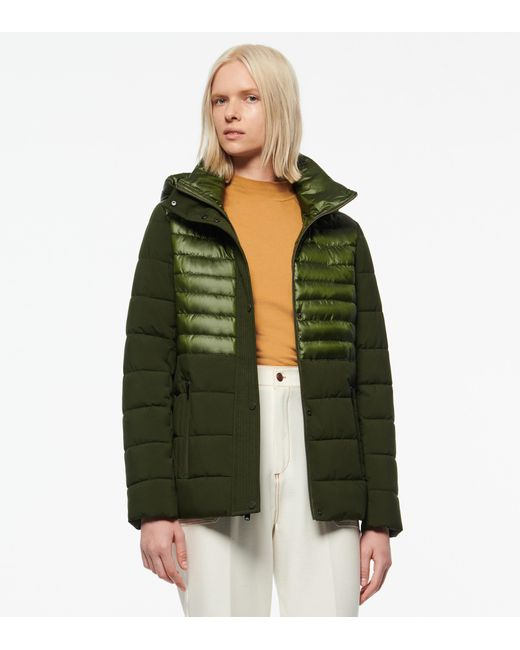 Andrew Marc Green Macoya Synthetic Down Hooded Puffer