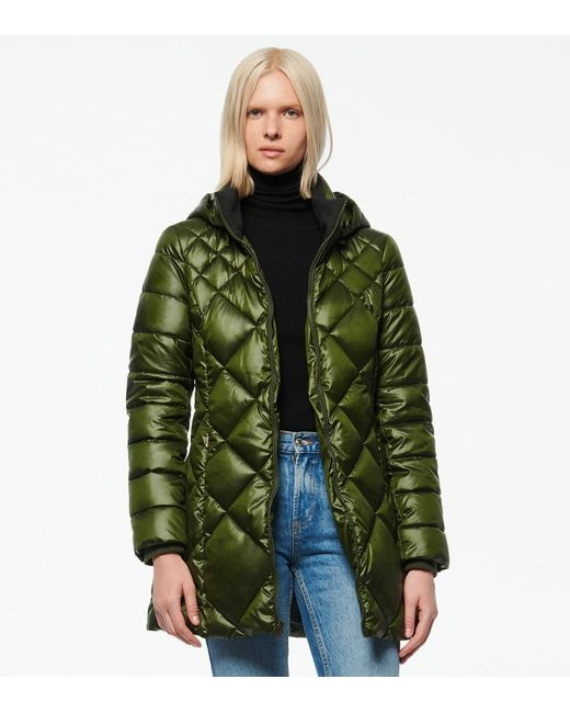 Andrew Marc Green Claremont Synthetic Down Diamond Quilt Puffer