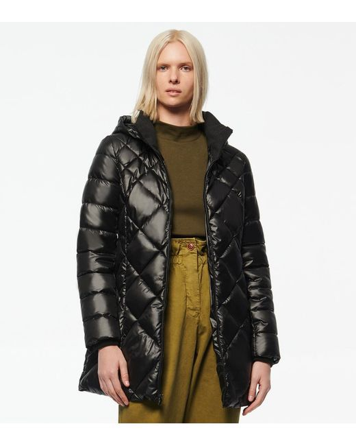Andrew Marc Black Claremont Synthetic Down Diamond Quilt Puffer