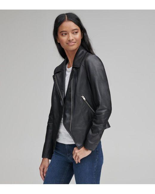 Andrew Marc Black Bayside Leather Scuba Jacket