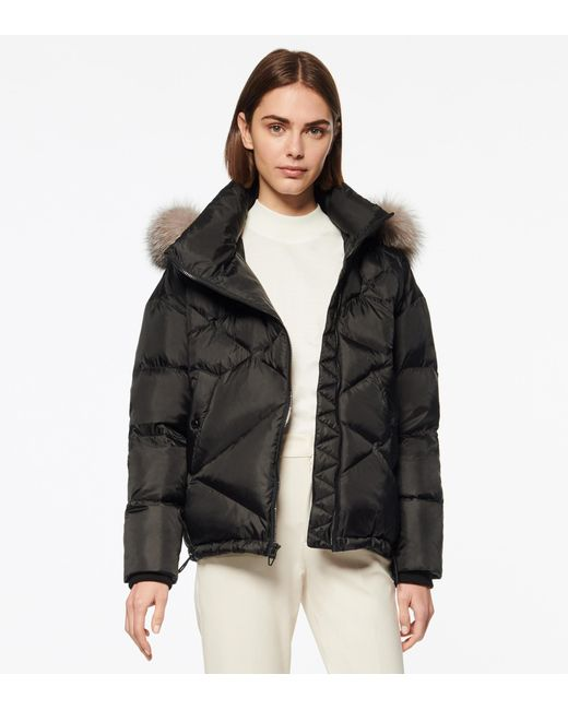 Andrew Marc Black Ashland Quilted Puffer Jacket