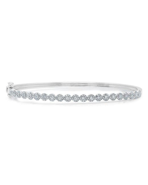 Anne Sisteron Multicolor 14kt White Gold Diamond Small Kira Bangle