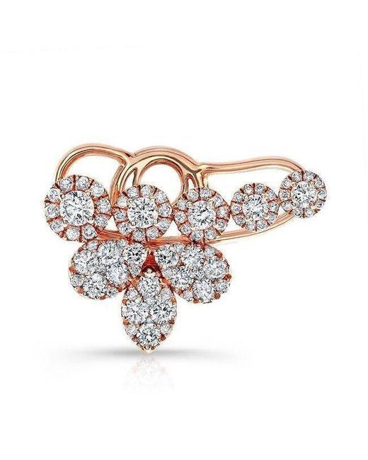 Anne Sisteron - Multicolor 14kt White Gold Diamond Long Stiletto Earrings - Lyst