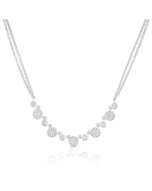 Anne Sisteron Metallic 14kt White Gold Diamond Double Chain Danielle Necklace