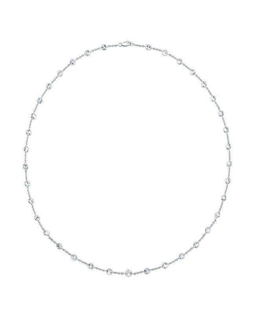 "Anne Sisteron | Multicolor 14kt White Gold Precious Topaz 40"" Necklace | Lyst"