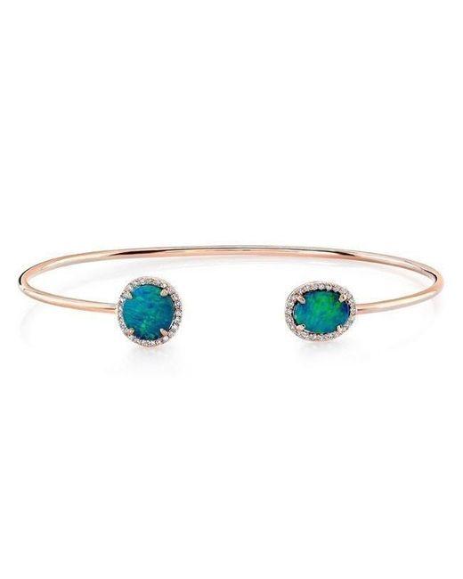 Anne Sisteron - Multicolor 14kt Rose Gold Opal Diamond Cuff - Lyst