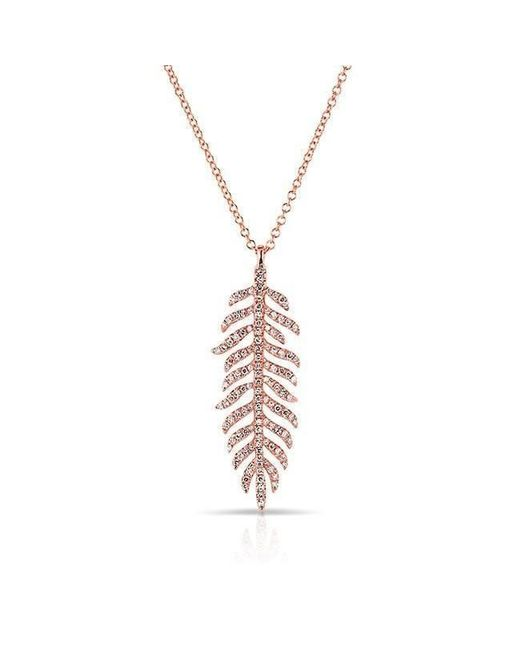Anne Sisteron | Metallic 14kt Rose Gold Diamond Palm Necklace | Lyst