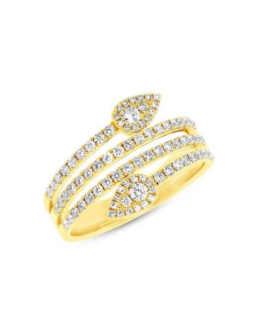 Anne Sisteron - Metallic 14kt Yellow Gold Diamond Viper Ring - Lyst