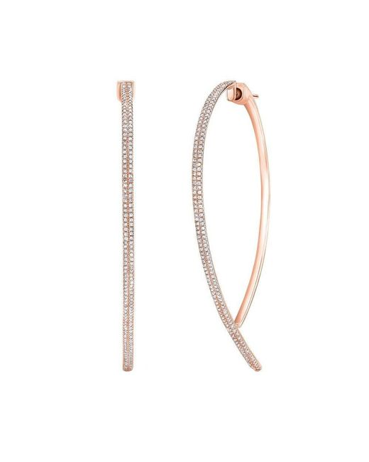 Anne Sisteron - Multicolor 14kt Rose Gold Diamond Audrey Earrings - Lyst