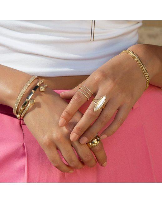 Anne Sisteron Multicolor 14kt White Gold Half Pave Diamond Bangle