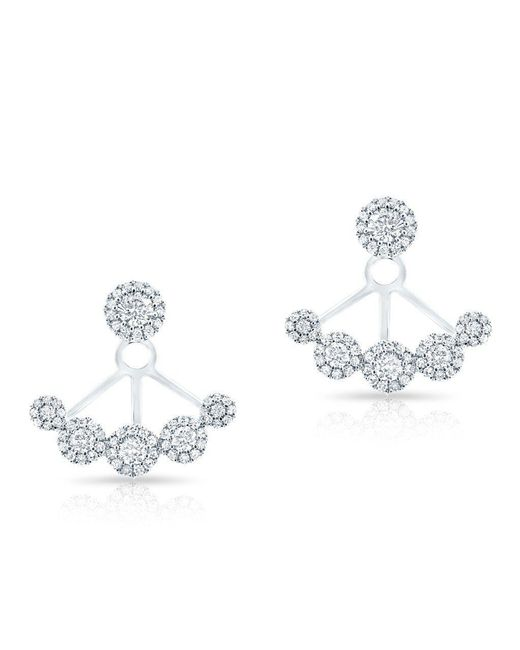 Anne Sisteron - Metallic 14kt White Gold Diamond Carissa Floating Earrings - Lyst