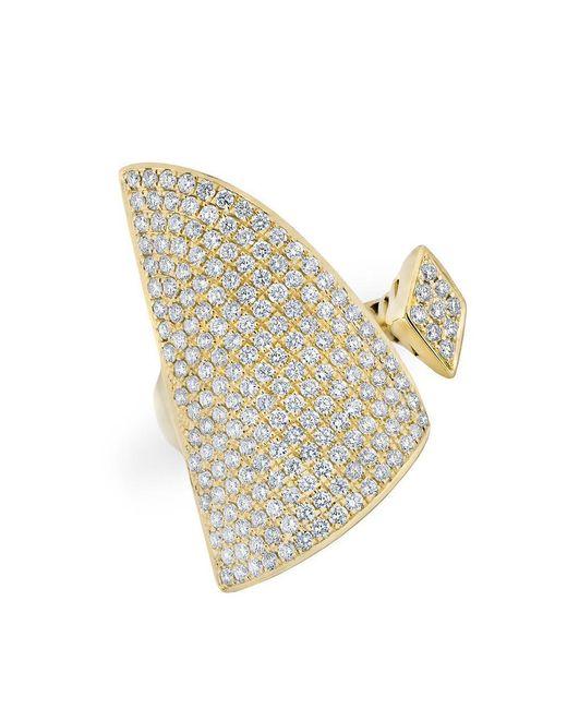 Anne Sisteron | Metallic 14kt Yellow Gold Diamond Valkyrie Ring | Lyst