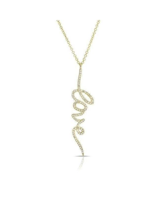 Anne Sisteron - Metallic 14kt Yellow Gold Diamond Love Pendant Necklace - Lyst