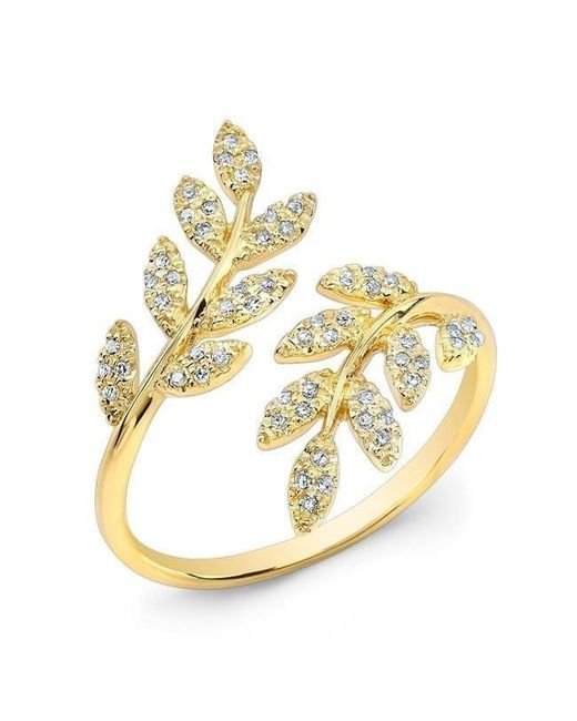 Anne Sisteron - Metallic 14kt White Gold Diamond Branch Ring - Lyst
