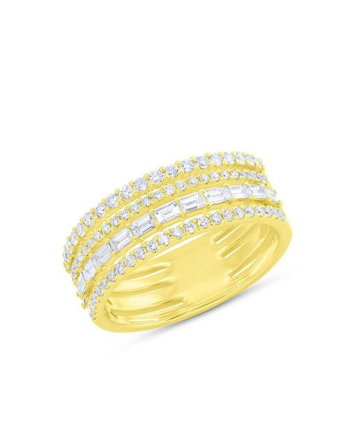 Anne Sisteron - Metallic 14kt Yellow Gold Diamond Baguette Eternity Ring - Lyst