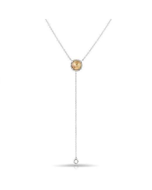 Anne Sisteron - Metallic 14kt White Gold Raw Diamond Flirt Lariat Necklace - Lyst
