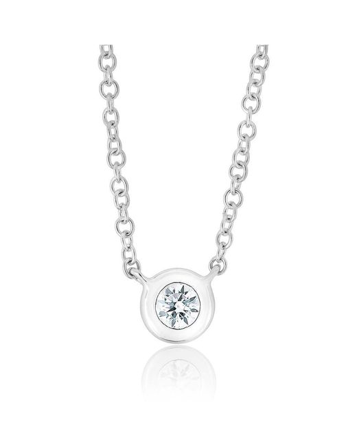 Anne Sisteron - Metallic 14kt White Gold Diamond Solitaire Necklace - Lyst