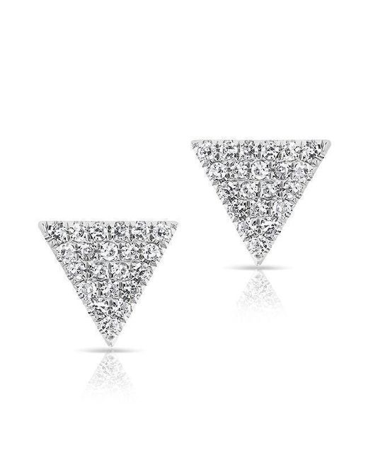 Anne Sisteron - Metallic 14kt White Gold Diamond Small Triangle Emma Stud Earrings - Lyst