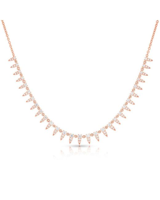 Anne Sisteron Metallic 14kt Rose Gold Diamond Meghan Necklace