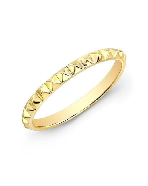 Anne Sisteron - Metallic 14kt Yellow Gold Pyramid Stacking Ring - Lyst