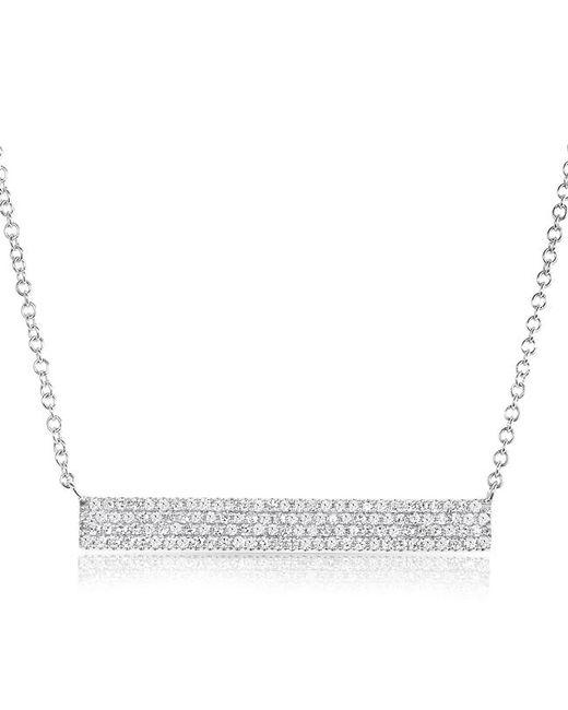Anne Sisteron - Metallic 14kt White Gold Diamond Long Brick Necklace - Lyst