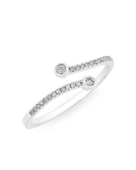 Anne Sisteron - Multicolor 14kt White Gold Diamond Crossover Circuit Ring - Lyst