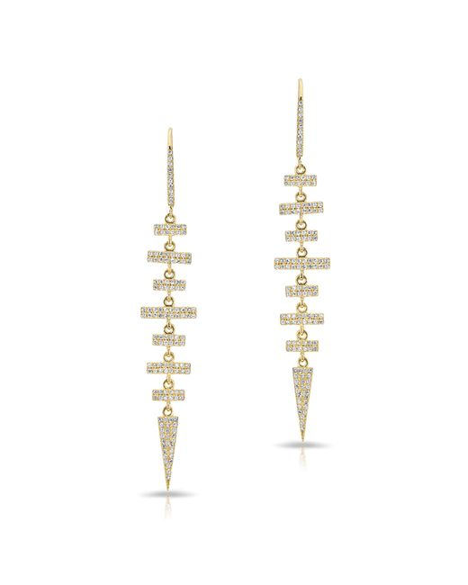 Anne Sisteron - Metallic 14kt Yellow Gold Diamond Earrings - Lyst