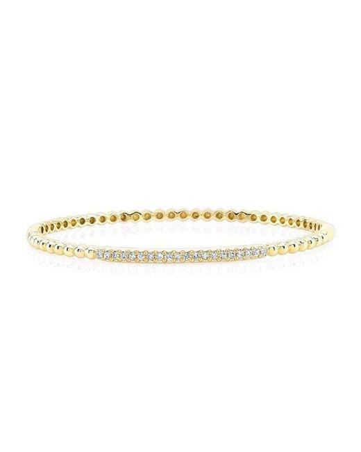 Anne Sisteron - Metallic 14kt Yellow Gold Diamond Ball Bangle Bracelet - Lyst
