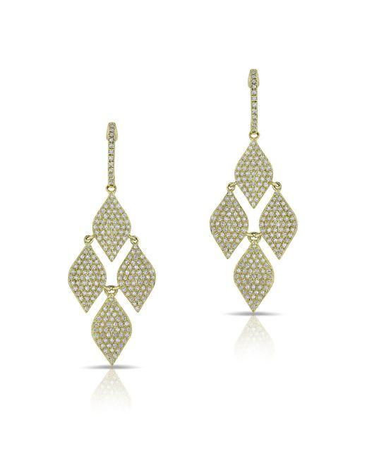 Anne Sisteron - Metallic 14kt Yellow Gold Diamond Medium Marquis Earrings - Lyst