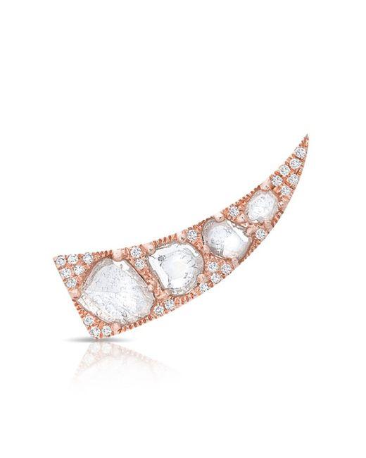 Anne Sisteron - Metallic 14kt Rose Gold Diamond Slice Horn Ear Climber - Lyst