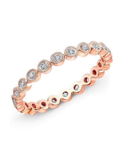 Anne Sisteron - Multicolor 14kt Rose Gold Bezel Set Diamond Ring - Lyst