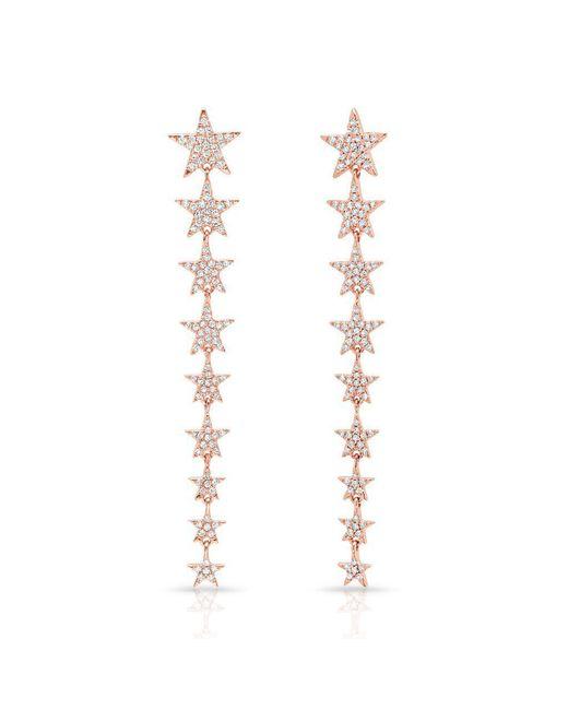 Anne Sisteron - Metallic 14kt Rose Gold Diamond Fallen Star Earrings - Lyst