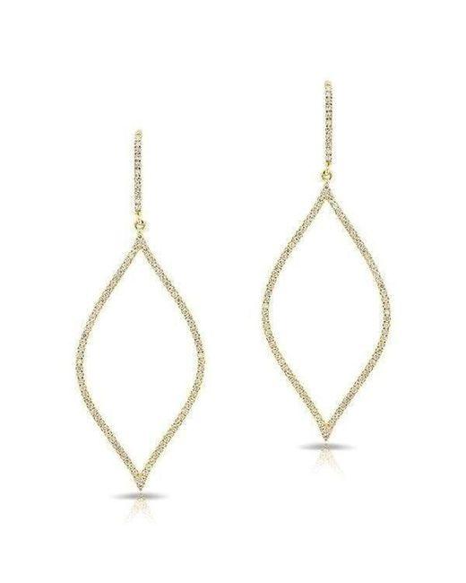 Anne Sisteron - Metallic 14kt Yellow Gold Diamond Small Open Marquis Earrings - Lyst