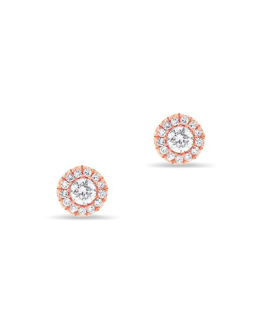 Anne Sisteron - Pink 14kt Rose Gold Diamond Ava Stud Earrings - Lyst