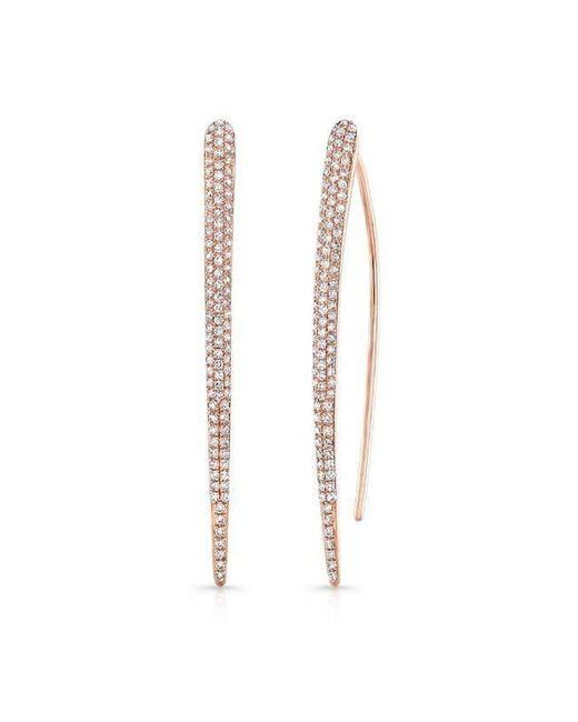 Anne Sisteron - Metallic 14kt Yellow Gold Diamond Luxe Wishbone Earrings - Lyst