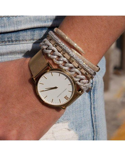 Anne Sisteron Metallic 14kt White Gold Diamond Luxe Chain Link Bracelet