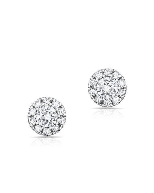 Anne Sisteron - Metallic 14kt White Gold Diamond Mini Round Stud Earrings - Lyst