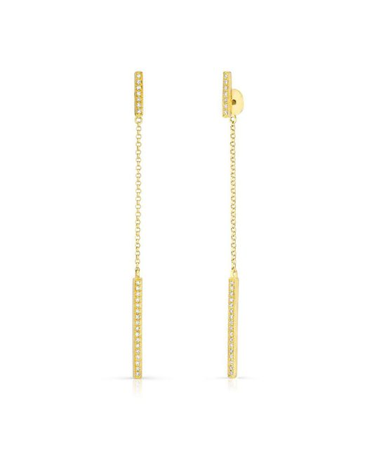 Anne Sisteron - Metallic 14kt Yellow Gold Diamond Sofia Chain Earrings - Lyst