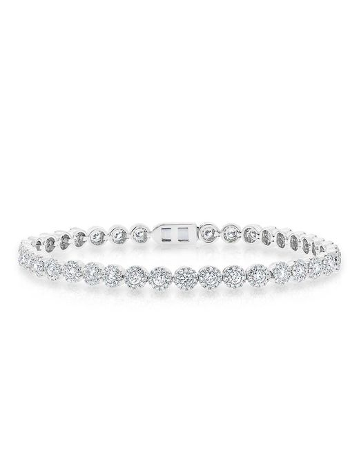Anne Sisteron - Metallic 14kt White Gold Diamond Love Collection Luxe Tennis Bracelet - Lyst