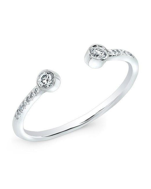 Anne Sisteron - Metallic 14kt White Gold Diamond Circuit Ring - Lyst