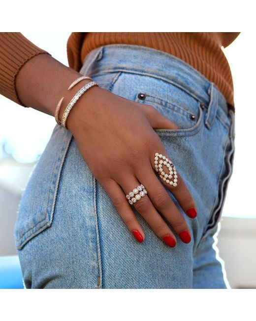 Anne Sisteron Metallic 14kt Yellow Gold Diamond Odessa Ring