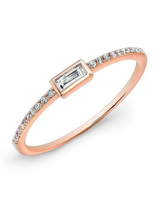 Anne Sisteron | Multicolor 14kt Rose Gold Diamond Ridge Ring | Lyst