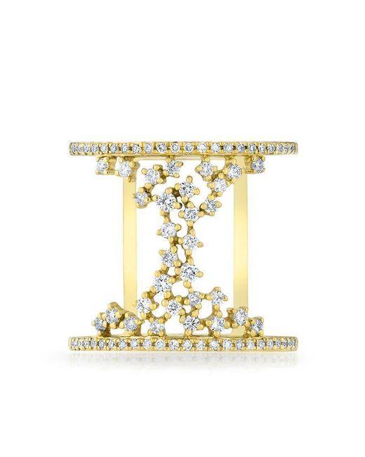 Anne Sisteron | Metallic 14kt Yellow Gold Diamond Lace Lana Ring | Lyst