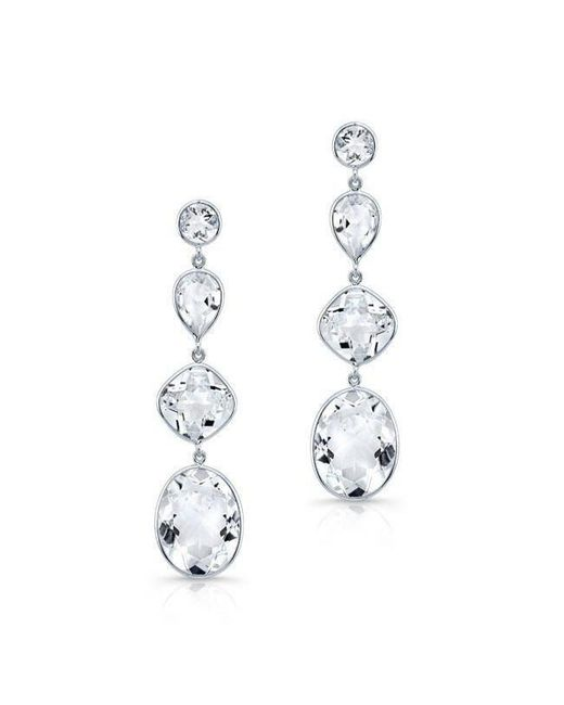Anne Sisteron - 14kt White Gold White Topaz Quadruple Drop Earrings - Lyst